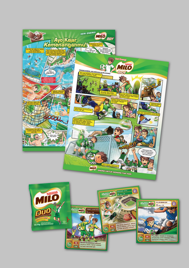 MILO Boy Cards and Comics Designs