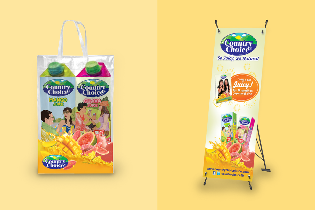 Country Chouice Tote Bag and Banner Design