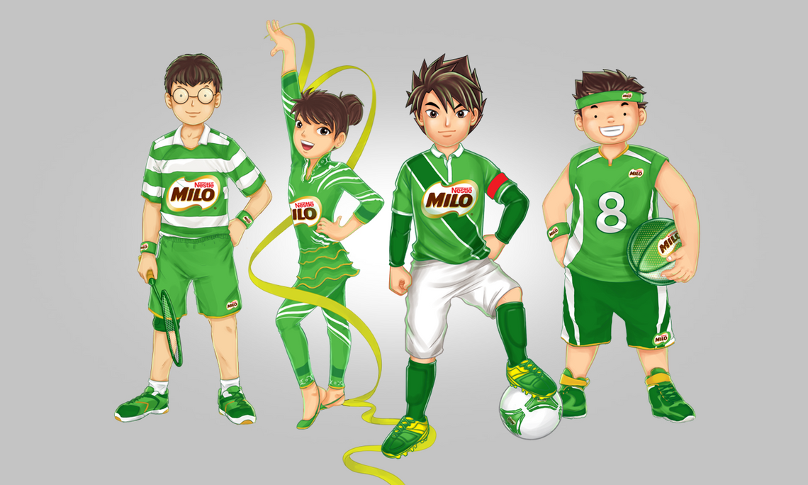 MILO Boy Main Characters Illustrations