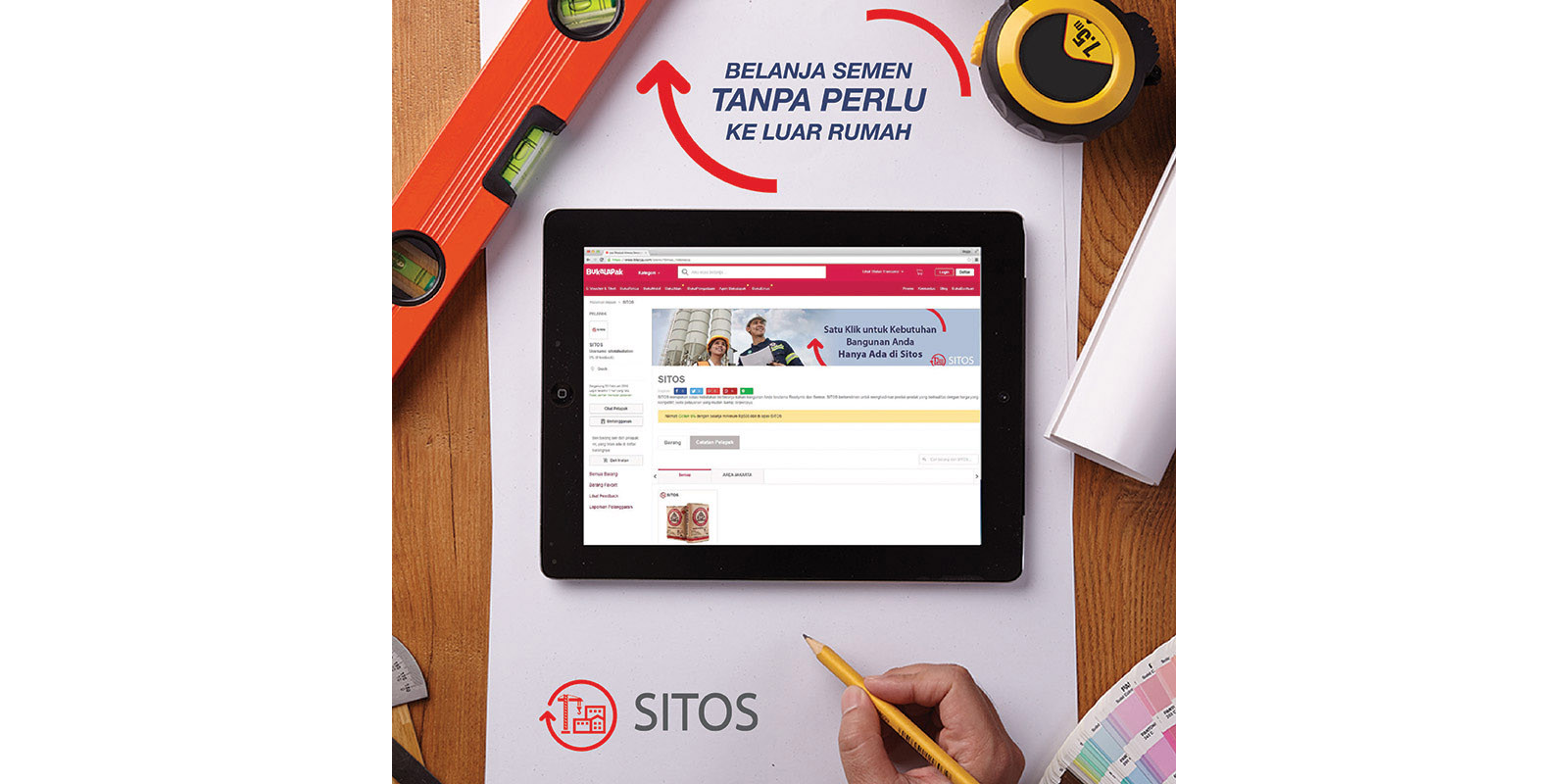 Semen Indonesia Poster with Tablet Image