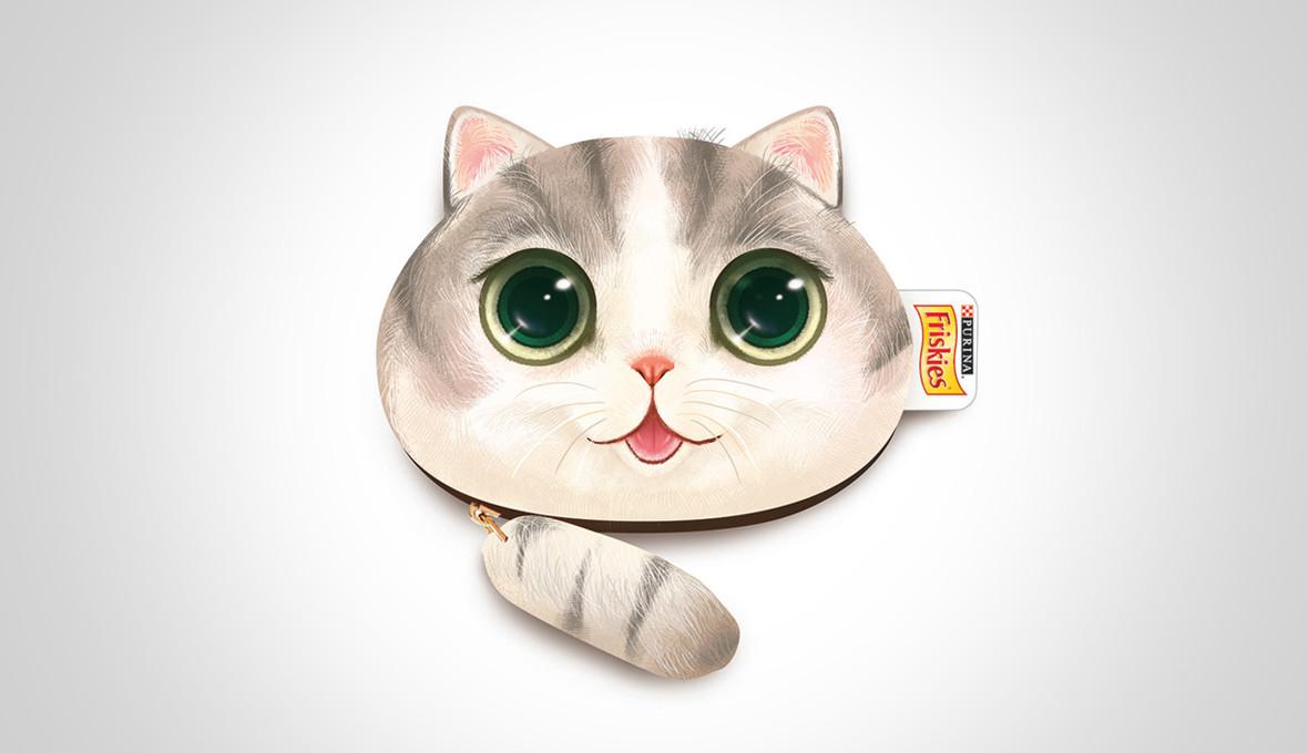 Friskies Cat Pouch Design Grey