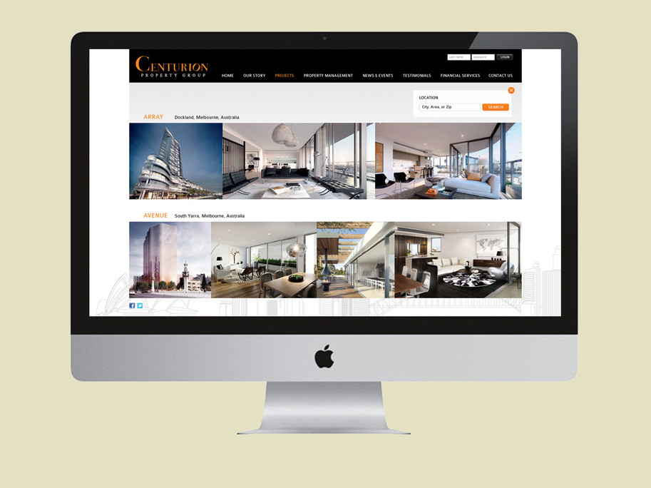 Centurion Designs Website Preview