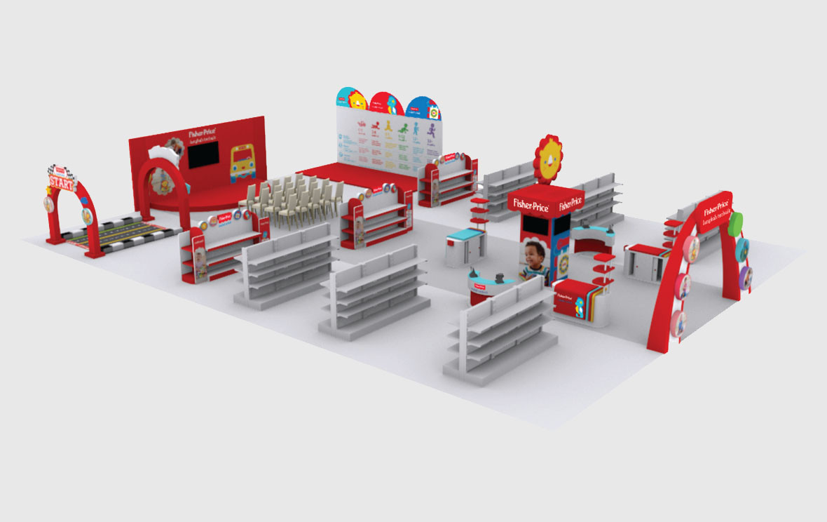 Fisher Price Baby Fair Venue 3D Implementation