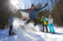 snowshoeing, winter activities, golden beach resort, trails