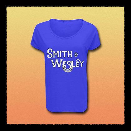 Ladies' Blue Cap Sleeve T-shirt