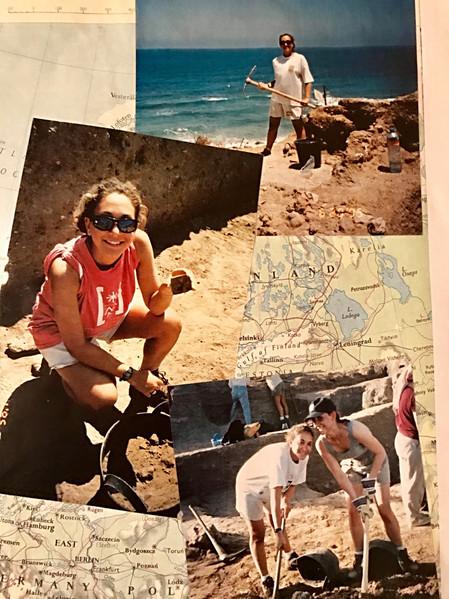 Archaeological dig at Ashkelon, Israel.