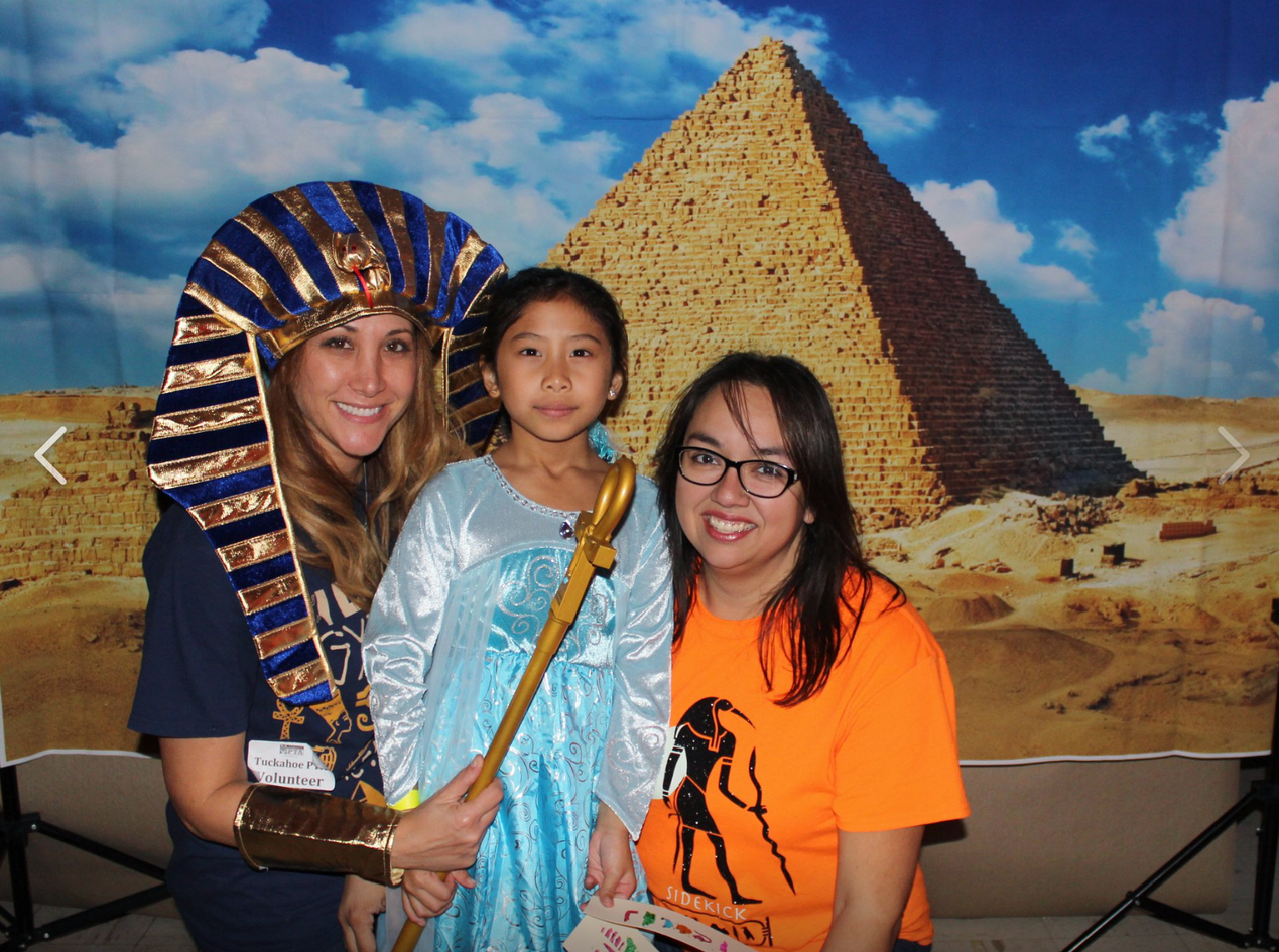 Pyramids photo backdrop