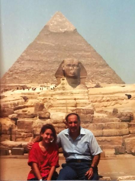 Visiting the Giza Plateau in 9th grade.