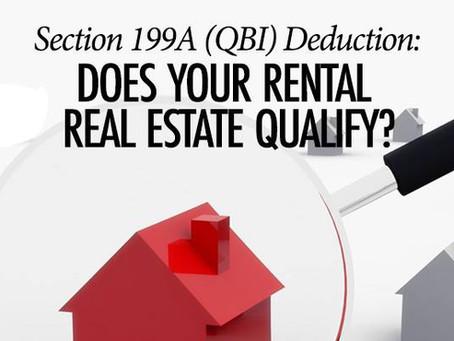 부동산 임대업(Rental Real Estate)이 20%의 세금공제(Section 199A deduction) 를 받기 위한 조건