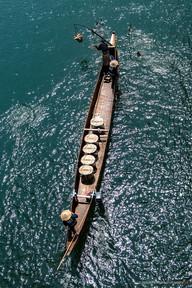 真昼の鵜飼船