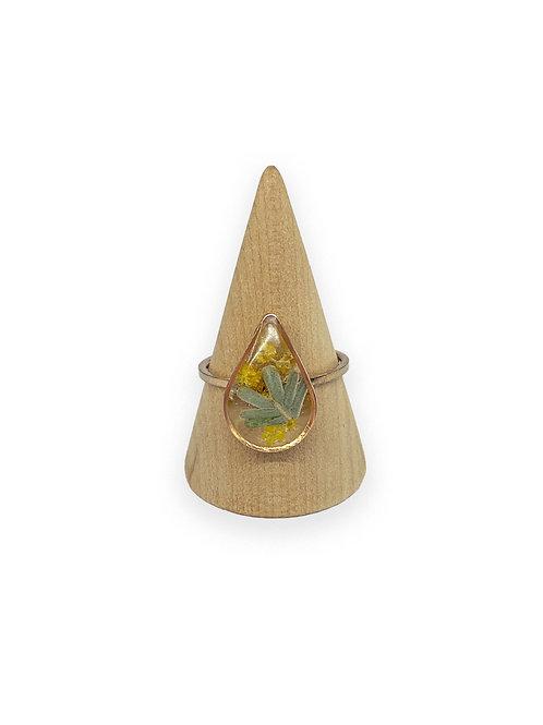 Wattle Ring ○ Dainty Teardrop