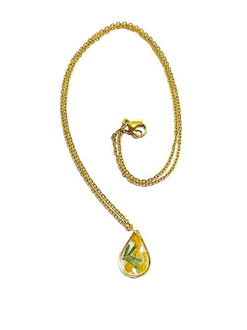 Wattle Necklace ○ Dainty Teardrop