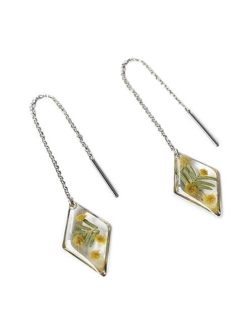 Wattle Diamond Threader Earrings