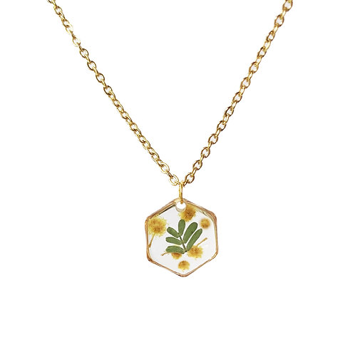 Wattle Necklace ○ Dainty Hexagon