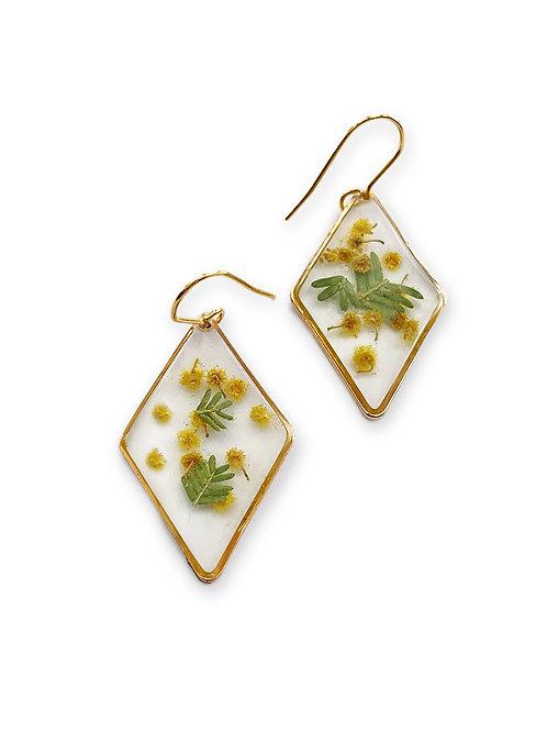 Wattle Earrings ○ Diamond