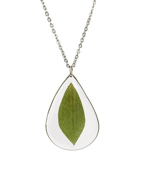 Eucalyptus Leaf Necklace ○ Teardrop