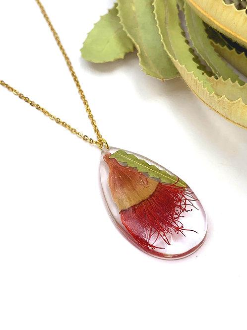 Flowering Gum & Banksia Leaf Necklace