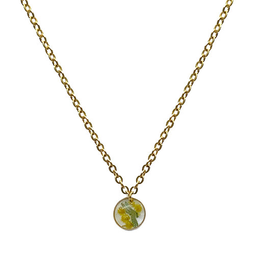 Wattle Necklace ○ Dainty Circle