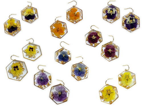 Viola Earrings ○ Hexagon