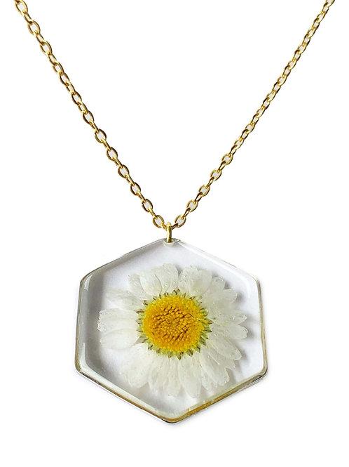 Daisy Hexagon Necklace