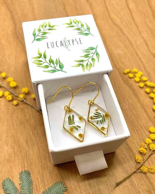 Wattle Diamond Earrings
