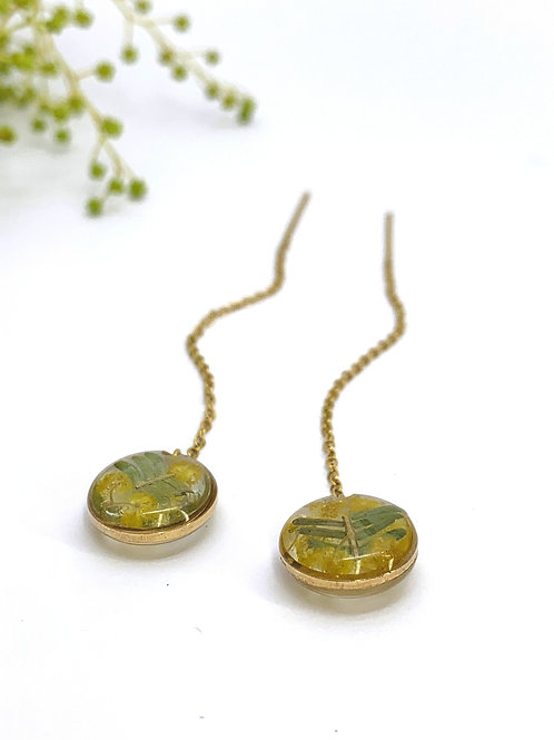 Wattle Circle Threader Earrings