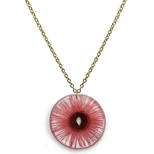 Pink Flowering Gum Necklace ○ Large Circle