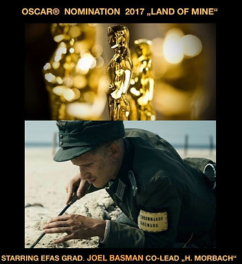 "SCHAUSPIELSCHULE EFAS: Absolvent JOEL BASMAN Official Selection ACADEMY AWARDS 2017 mit ""LAND OF MINE"""