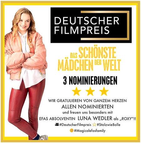 Nom. Deutscher Filmpreis 2019  SMDW  Efa