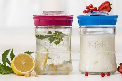 Kefirko the Original and Only Kefir-making Jars -white only on sale