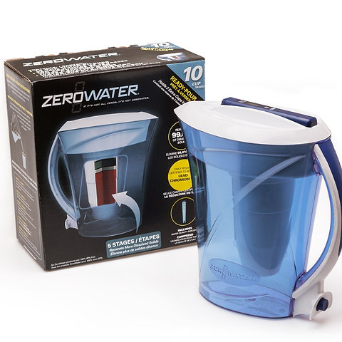 Zerowater 12 Cup 2 8 Lt Water Filter Jug With Free Digital Tds