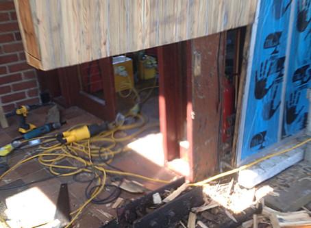 Restoration of Glulam Beams Underway at Mount Merrion Church