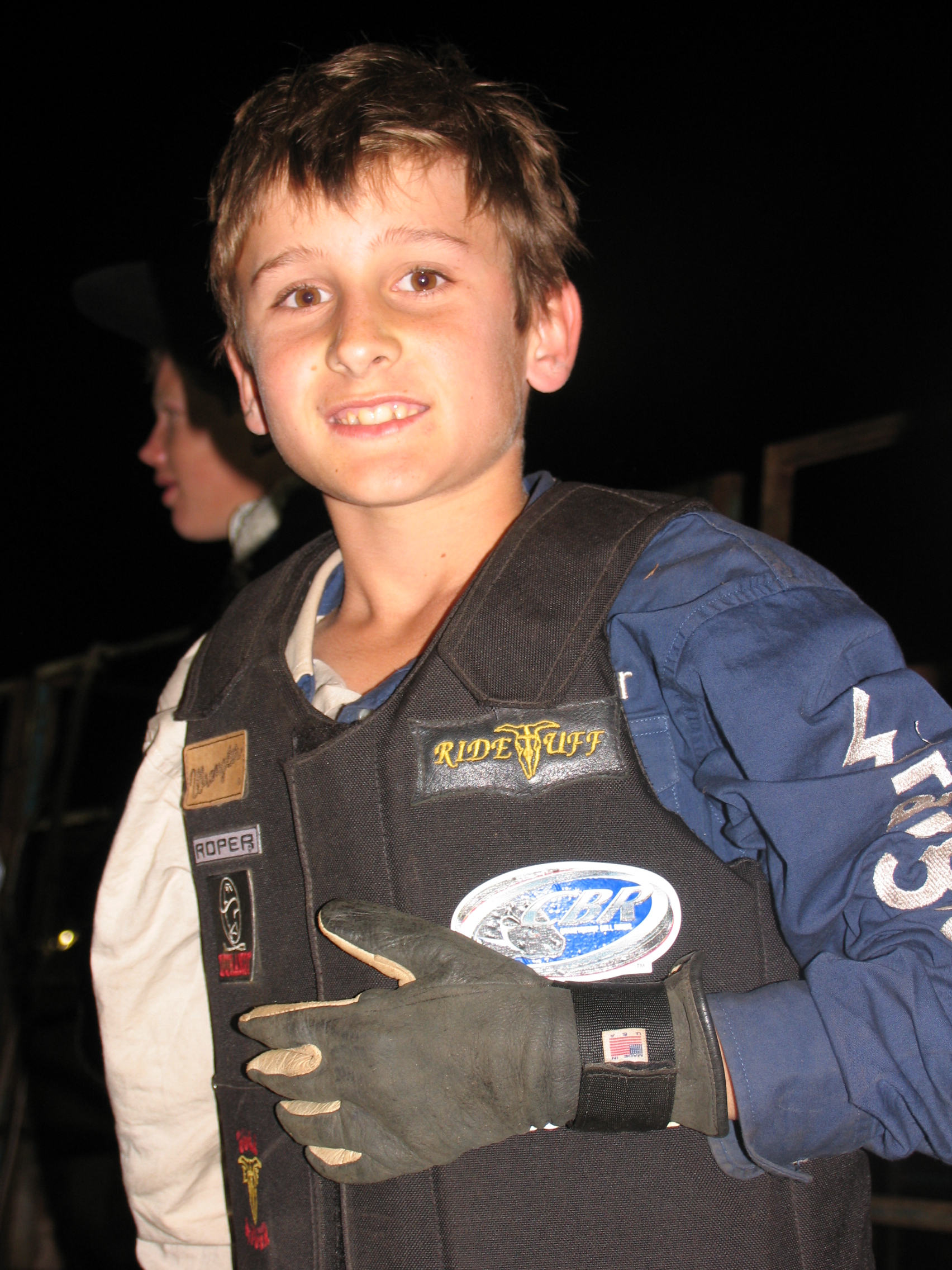 Luke Russo -after his winning ride