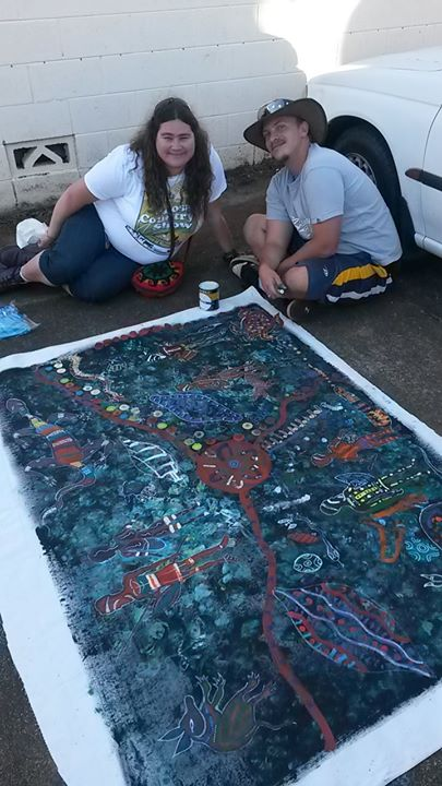 Love this community collaborative painting