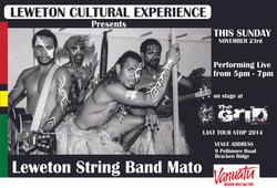 Leweton String Band Mato Poster