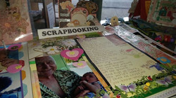 Mia's scrapbooking great grandad