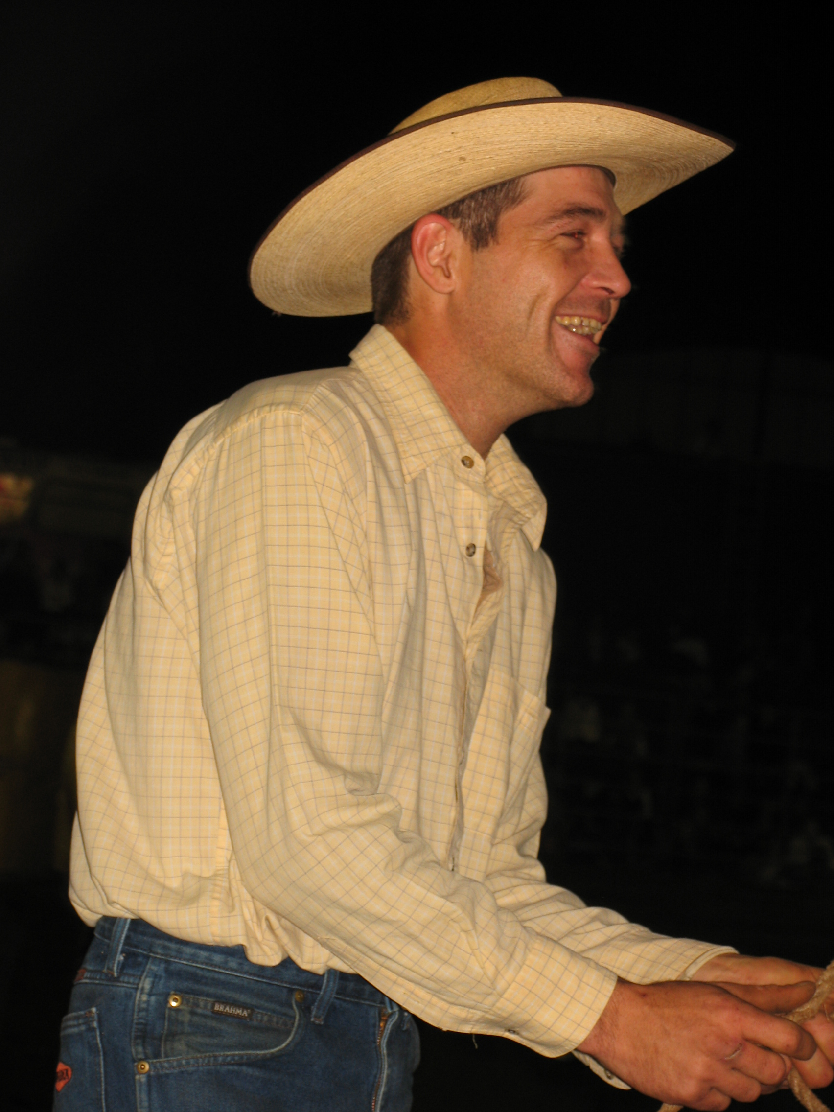 Glen Darcy-winner of open Bull Ride