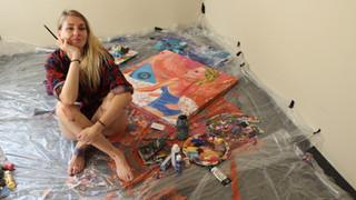Psyberfairy painting
