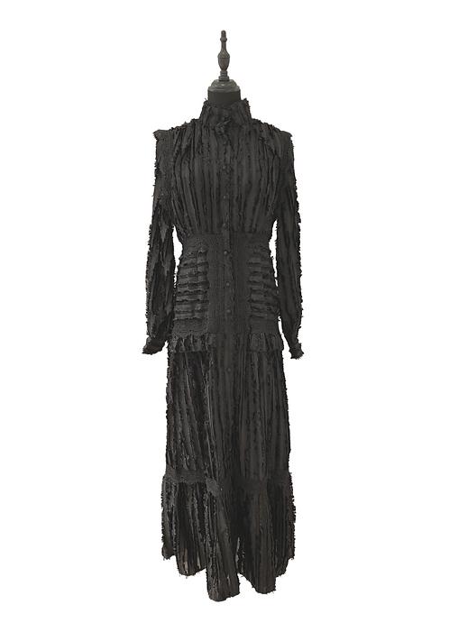 Empire Long Black Dress