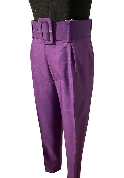 High-waist Purple Trousers