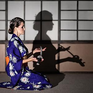 Елена. Съёмка в японском стиле.