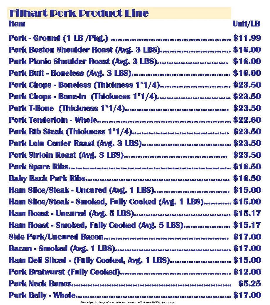 Filhart Beef_Pricing List_2021_Page_Pork