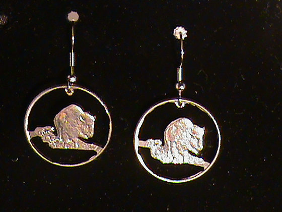 Kansas state quarter hand cut and made to earrings
