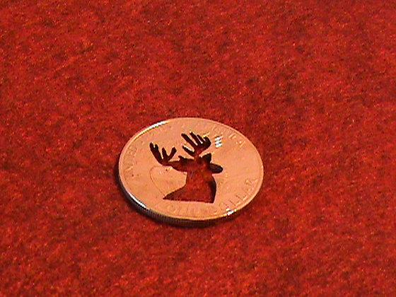 Silver dollar as a golf marker 24 kt gold plate