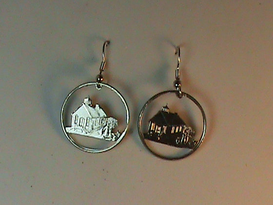 Iowa State Quarters cut and made into Earrings