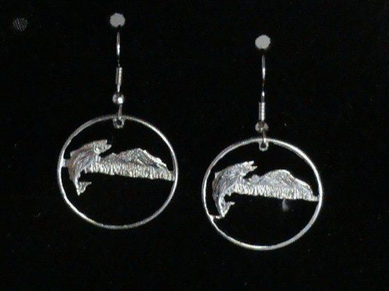 Washington State Quarters  Cut Made into Earrings