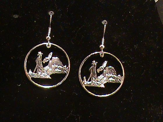 California Quarters made into Earrings