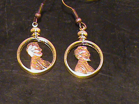 US penny earrings