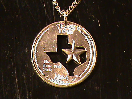 Texas state quarter with chain