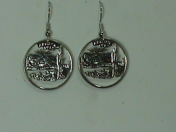 Arizona Coin Cut made into Earrings